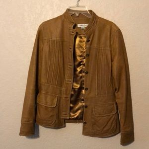Coldwater creek Size 4 Camel Leather Jacket